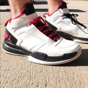 Nike Air Jordan Shoes Red White Black